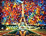 PARIS OF MY DREAMS by Leonid Afremov is a 100% hand painted oil painiting on Canvas - Recreation of an older painting