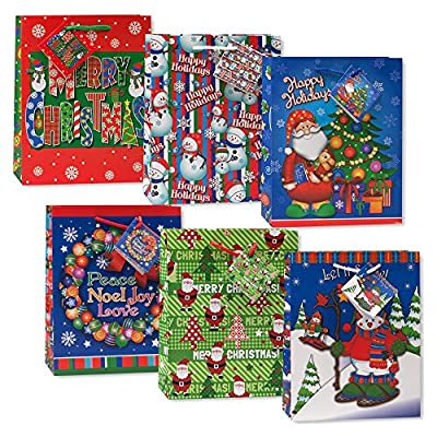 Small Assorted Christmas Gift Bags by Century Novelty