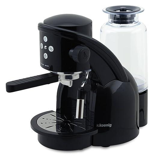 h koenig xps15 espressomaschine 15 bar 1360 w schwarz. Black Bedroom Furniture Sets. Home Design Ideas