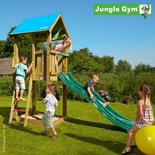Jungle Gym Spielturm CASTLE mit Rutsche - Grün