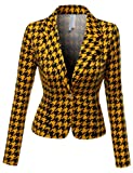 SJSP Women Plus-Size Long Sleeve Solid Color 1 button Blazer