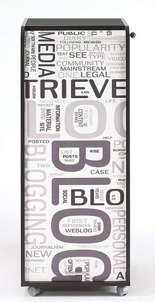 Simmob ORGA110NON301 Blog 301 Gran cassa Mobile in legno da ufficio, 47 x 47,2 x 107,6 cm
