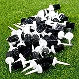 Generic 50Pcs 57mm Plastic Bristles Golf Brush Tees Training Bristle Tee Randomly Color