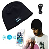 Gouptec Bluetooth4.0 Hands-free Soft Warm Hat Wireless Bluetooth Smart Cap Headset Headphone Stereo Speaker Mic