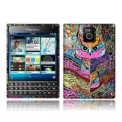 NextKin BlackBerry Passport Q30 Flexible Slim Silicone TPU Skin Gel Soft Protector Cover Case - Colorful Mystical Owl