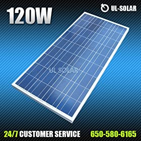 120 Watt 12 Volt Multicrystalline Solar Panel 120w