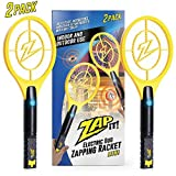 Zap It! Bug Zapper Racket, 4000V, USB Rechargeable, Twin Pack (Color: MULTI)