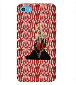 PrintDhaba Violin Girl D-3015 Back Case Cover for APPLE IPHONE 5C (Multi-Coloured)