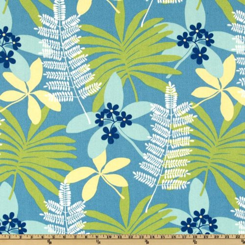 54'' Wide Better Homes & Gardens Indoor/Outdoor Bahama Azure Fabric By The Yard
