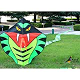 Sangdo 15m Power Cyan Cobra Snake Kite Outdoor Fun Sports easy to fly Children Toys NEW