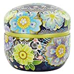 Blue Floral Lace Tea Canister