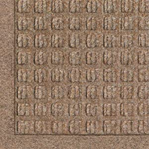 "Andersen 280 WaterHog Fashion Polypropylene Fiber Entrance Indoor/Outdoor Floor Mat, SBR Rubber Backing, 27'' Length x 18'' Width, 3/8"" Thick, Medium Brown"