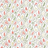 V&A Fabric - Coral Leaves