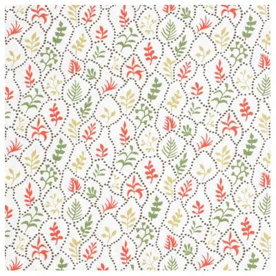 V&A Fabric - Coral Leaves||RF20F