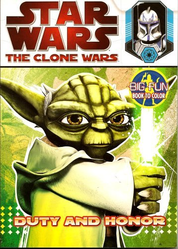 Star Wars The Clone Wars Big Fun Book to Color ~ Duty and Honor (96 Pages) - 1