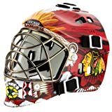 NHL League Logo Chicago Blackhawks Mini Goalie Mask at Amazon.com
