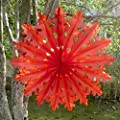 "SUNBEAUTY 5pcs 14"" or 19.7"" Snowflake Paper Fan Decorative Hanging Flowers Paper Crafts Party Wedding Decoration Home Party Supplies"