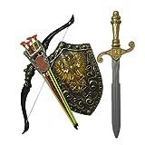 Kids Toy Children Bows Sword Shield Combination Set Simulation Archery,B (Tamaño: Medium)