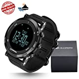 [New Arrival] SUNROAD Multi-function Sports Outdoor Watch With Nylon Strap Climbing Running Hiking Altimeter Pedometer Barometer Compass Thermometer Weather Forecast etc. Swiss Sensor 5ATM Waterproof