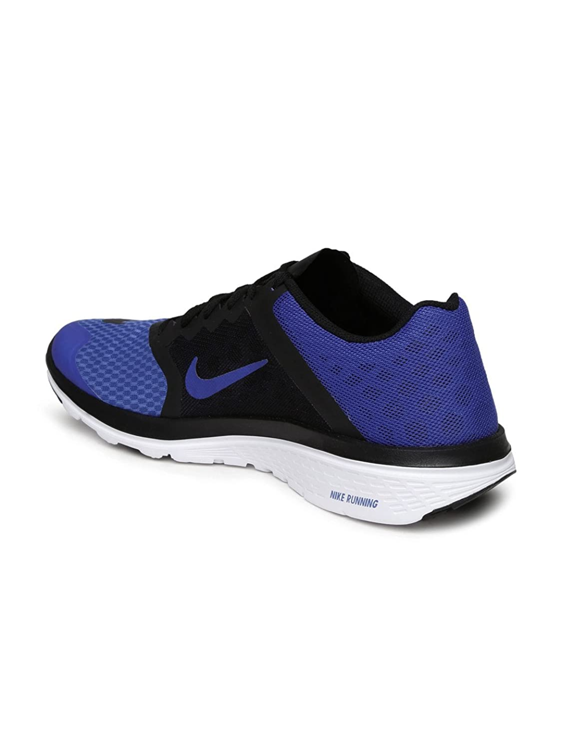9172706a6ba24 NIKE FS LITE RUN 3 BLACK AND BLUE RUNNING SHOES available at Amazon for Rs.