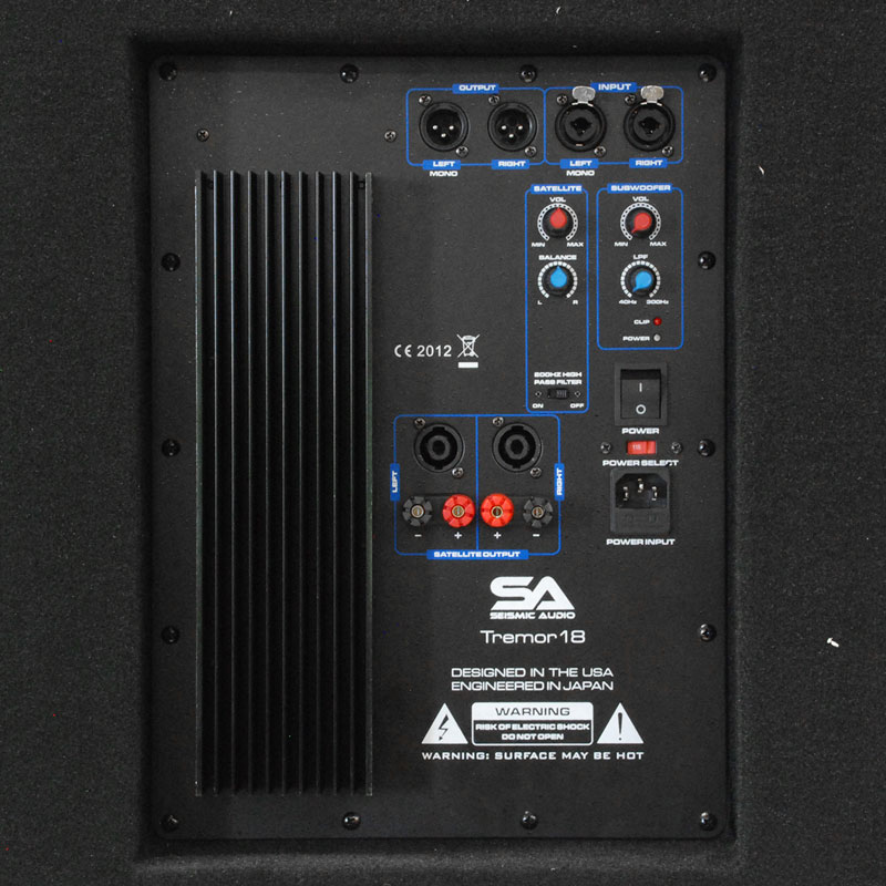 """Inch Powered Subwoofer Cabinet - 500 Watts RMS - 18"""" Active Subwoofer"""