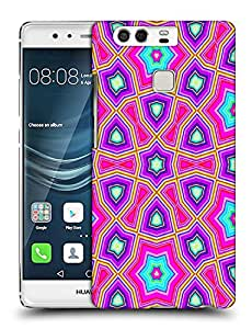 Snoogg Abstract Pink Star Pattern Designer Protective Back Case Cover For HUAWEI HONOR P9