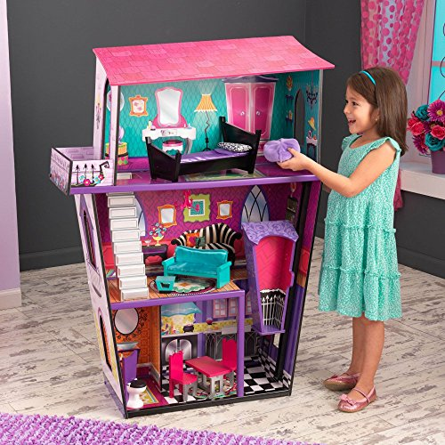 KidKraft Girl's Monster Manor Dollhouse with Furniture
