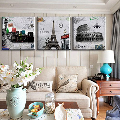Hot Sell 3 Panels 40 x 40 cm Modern Wall Painting London Paris New York Picture Home Decorative Art Picture Paint On Canvas Prints (Paint New York compare prices)