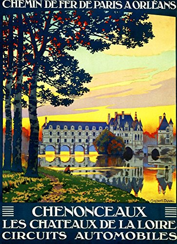 chenonceaux-wonderful-a4-glossy-art-print-taken-from-a-rare-vintage-railway-poster