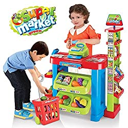 Battery Operated super market set with shopping basket