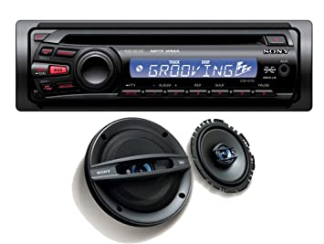 Sony CDX-GT252 Autoradio CD/MP3 avec enceintes XSF1737 3 voies 190 W 17 cm