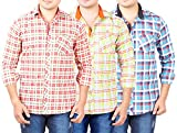 AEDI Mens Cotton Checkered Shirts Combo (SR68_pack of 3)