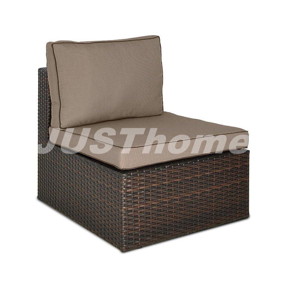 JUSThome Mittelmodul Gartenmöbel Lounge RODOS (HxBxL): 66x78x68 cm Braun online kaufen