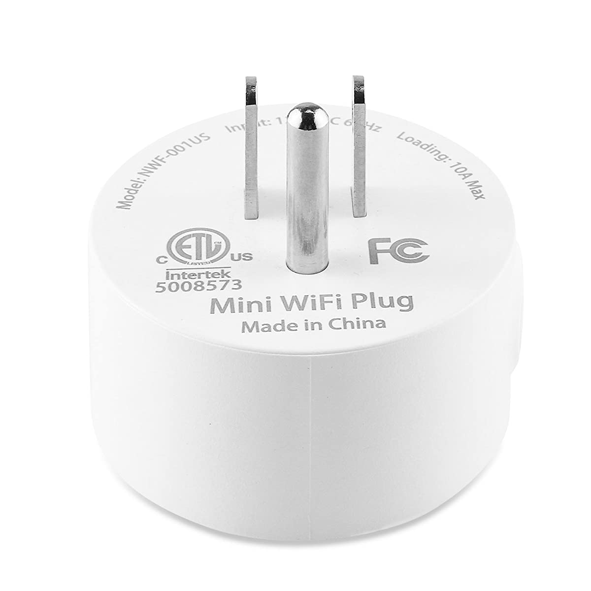 Wi-Fi Mini Smart Plug Socket Outlet Works with Amazon Alexa, Remote Control Your Devices from Anywhere (ETL and FCC Listed)