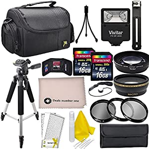 Professional 52MM Accessory Bundle Kit For Nikon D3300, D3200, D3100, D5000, D5100, D5200, D5300, D5500, D7000, D7100, D7200 & DSLR Cameras , 15 Nikon Accessories