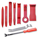 Car Door Clip Panel Trim Install Removal Tool Kits for Car Dash Radio Audio Installer Pry Tool 9PCS (Color: red, Tamaño: 9pcs)