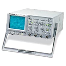 Instek GOS-6103C Portable Analog Oscilloscope with 100MHz Frequency Counter, 100MHz Bandwidth, 2 Channels, Timebase Auto-Range Function, CRT with 16kV Accelerating Potential