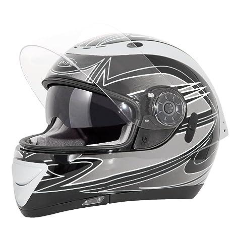 Akira 22055 Casque Moto Intégral Izumi, Noir/Gris, XL