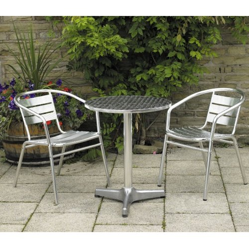 Nice Aluminium Cafe Bistro Set for 2