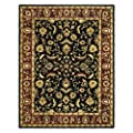 Safavieh Heritage Collection HG953A Handmade Black and Red Wool Area Rug