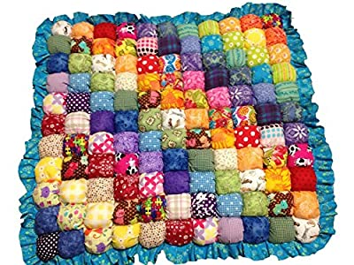 Rainbow Bubble Quilt for Babies