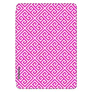 Enthopia Designer Front Smart Cover Pink Greecian Pattern for Ipad Mini 2/3 with Transparent Back Case