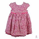 Early Smile Pink Chiffon Frocks for Girls-obc222