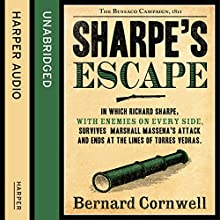 Sharpe's Escape: The Bussaco Campaign, 1810: The Sharpe Series, Book 10 Audiobook by Bernard Cornwell Narrated by Rupert Farley