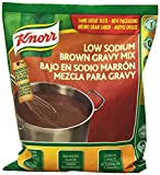 Knorr Brown Gravy Mix, Low Sodium, 16-Ounce Packages (Pack of 6)