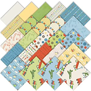 "Deena Rutter SCOOT 5"" Stacker Charm Pack Fabric Quilting Squares Riley Blake 5-SCO-24"