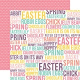 Echo Park Happy Easter Easter Words Paper