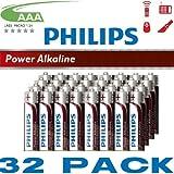Philips PowerLife Alkaline AAA Multipack (32 Batteries)