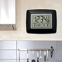 La Crosse Technology WS-8119U-IT-B Atomic Digital Wall clock with temperature
