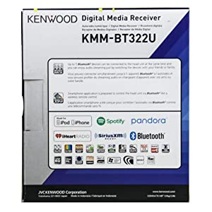 Kenwood KMM-BT322 Car Media Player Bluetooth (no cd and no sirius) (Color: Black, Tamaño: 3.93 x 7.16 x 2.08 inches)